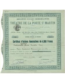 Sté Civile Immobilière du Théâtre de la Porte Saint-Martin