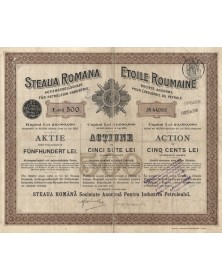 Steaua Romana, S.A. Pentru Industria Petroleului. 1906