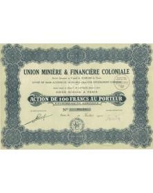 Union Minière & Financière Coloniale. 1928