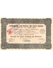 Cie Coloniale des Iles Banks (New Hebrides). 1941