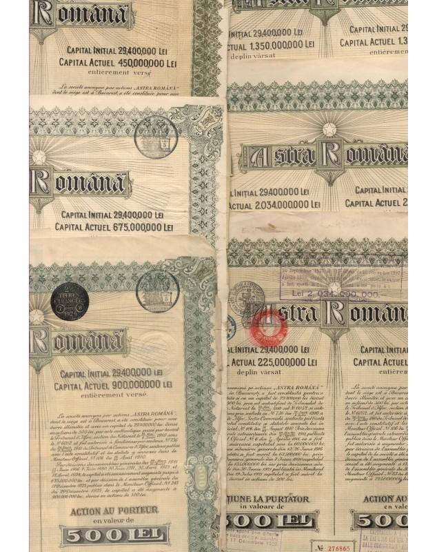 Astra Romana. Lot of 1921 to 1936