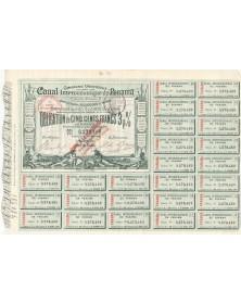 Cie Universelle du Canal Interocéanique de Panama. 1884. Signature J. de Lesseps