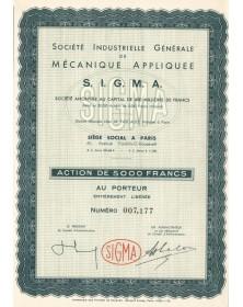 Sté Industrielle Générale de Mécanique Appliquée SIGMA