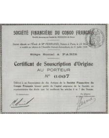 Sté Financière du Congo Français