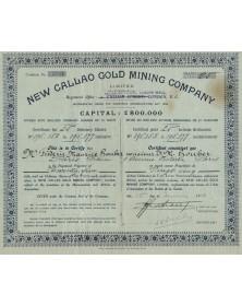 New Callao Gold Mining Company, Ltd. (1£) 1925