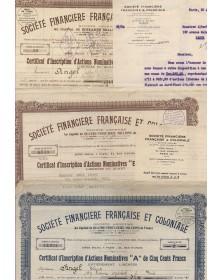 Sté Financière Française et Coloniale