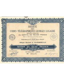 Sté des Codes Télégraphiques Georges Lugagne. 1929