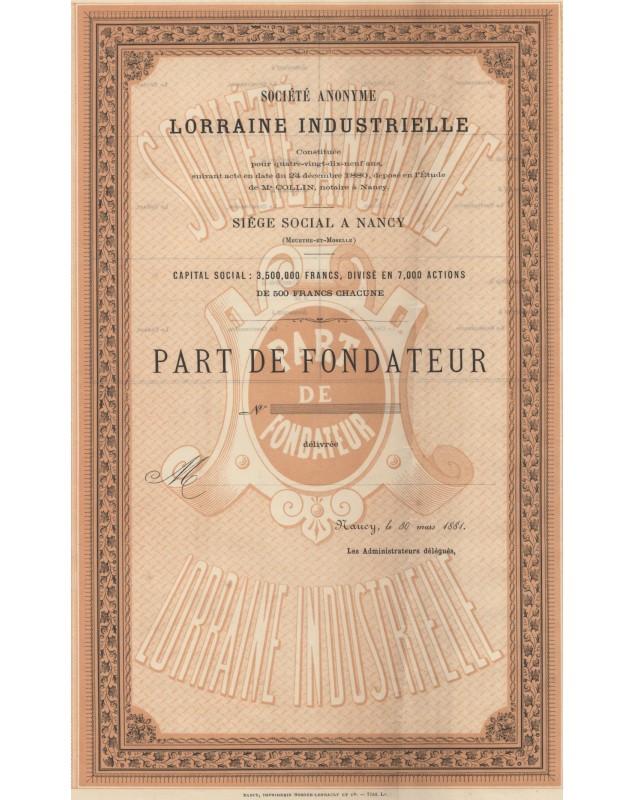 Sté Anonyme Lorraine Industrielle