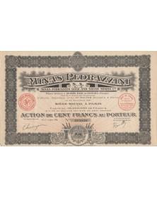 Minas Pedrazzini S.A. - Mines d'or et d'argent. 1926