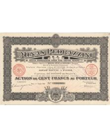 Minas Pedrazzini S.A. - Mines d'or et d'argent. 1924