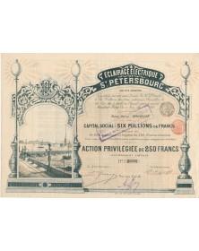 Eclairage Electrique de St-Pétersbourg (1897)