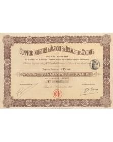 Comptoir Industriel & Agricole de France et des Colonies
