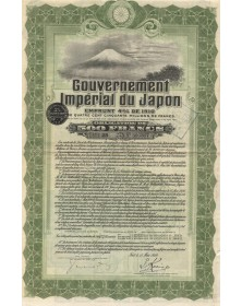 Gouvernement Imperial du Japon -  Emprunt 4% 1910