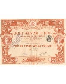 Sté Parisienne de Modes ''Au Bonheur des Dames''
