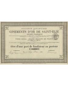 S.A. des Gisement d'Or de St-Elie, Guyane Française