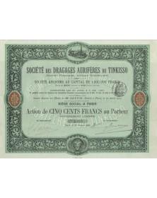 Sté des Dragages Aurifères du Tinkisso (Guinée Française, Afrique Occidentale) (1906)