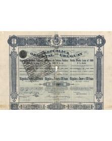 Republica Oriental del Uruguay - Public Works Loan 1909 5%