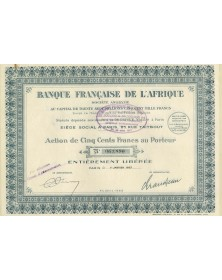Banque Française de l'Afrique (1927)