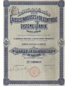 Sté Générale Française des Caisses Payeuses & Contrôl Système Janik