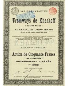 Société Anonyme des Tramways de Kharkoff (Kharkoff Cable Cars)