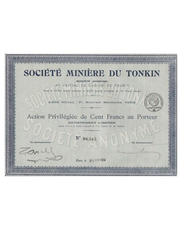 Sté Minière du Tonkin