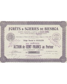Forês & Scieries de Bienhoa Wood and forest indochina