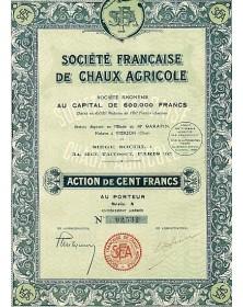 Sté Française de Chaux Agricole