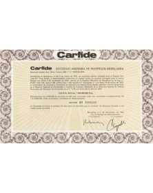 "-Carfide-"" Scd de Inversion Mobiliaria"""