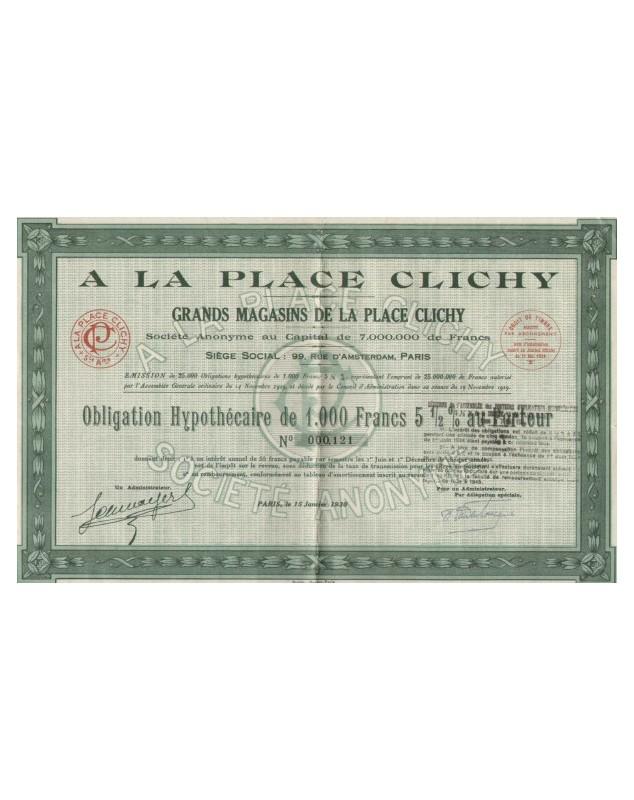 A la Place Clichy. Grands Magasins
