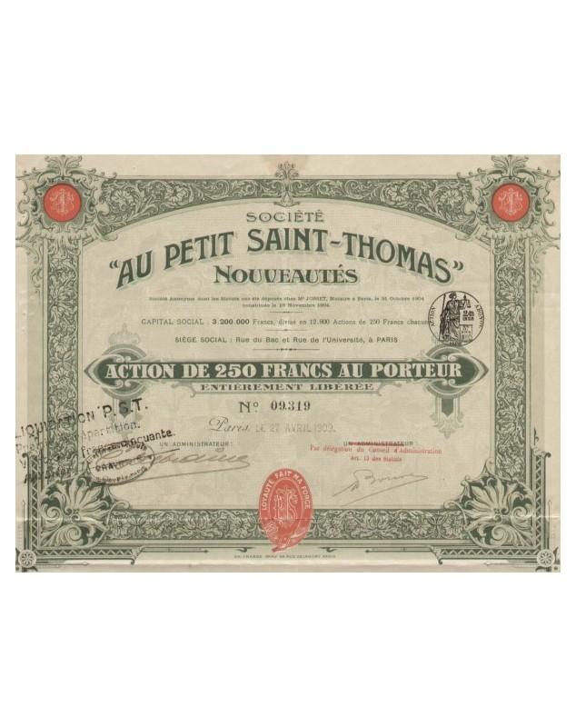 'Au Petit Saint-Thomas'' Nouveautés