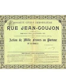 Sté Civile Immobilière de la Rue Jean-Goujon