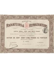 Sté des Radiateurs & Réfrigérateurs