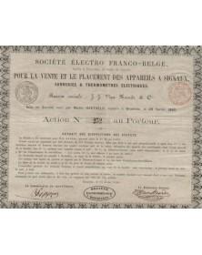 Sté Franco-Belge pour la Vente des Appareils à Signaux, Sonneries et Thermomètres Electriques