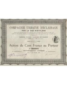 Cie Urbaine d'Eclairage par le Gaz Acétylène (Mouzon, Ardennes)
