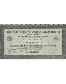 Sté d'Electricité et de Gaz de la Basse-Moselle