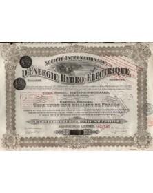 Sté Internationale d'Energie Hydro-Electrique (SIDRO)