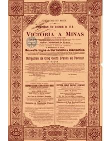 Victoria a Minas Railway Co. New line from Curralinho to Diamantina