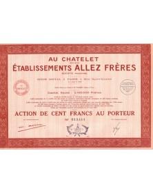 Au Chatelet - Ets Allez Frères -Fabrique de  Cycles