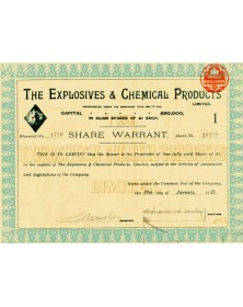 The Explosives & Chemical Products