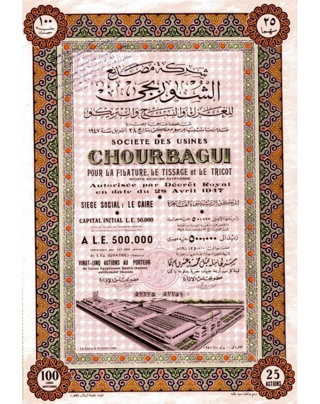 Sté des Usines Chourbagui pour la Filature, Tissage et Tricot
