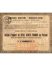 Cie Maritime ''Bordeaux-Océan''