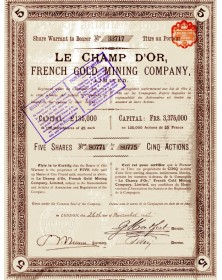 Le Champ d'Or, French Gold Mining Co. Ltd.