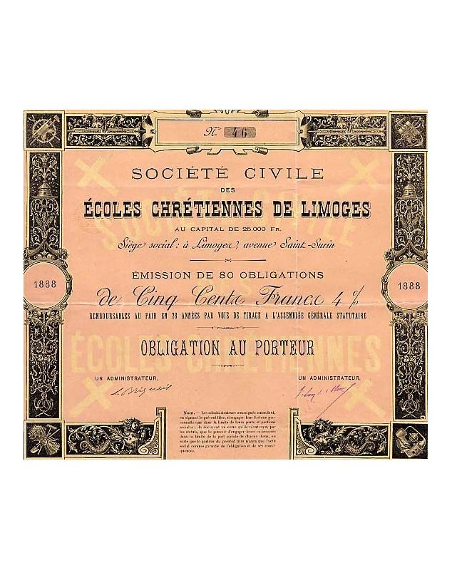 Sté Civile des Ecoles Chrétiennes de Limoges