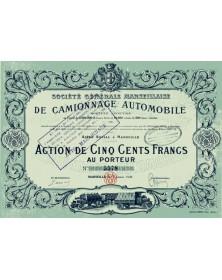 Sté Générale Marseillaise de Camionnage Automobile