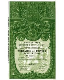Ville de Paris - Emprunt à Lots 4,5% 1929