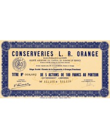 Conserveries L. R. Orange