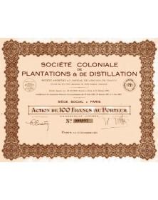 Sté Coloniale de Plantations & de Distillation