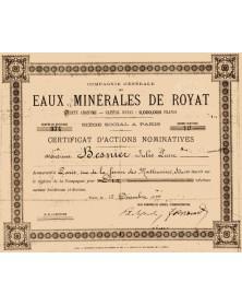 Cie Générale des Eaux Minérales de Royat (Puy-de-Dôme)