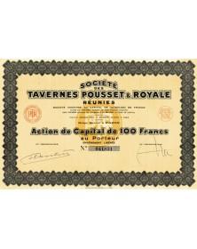 Sté des Tavernes Pousset & Royale réunies
