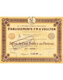 Le Contreplaqué Français - Ets F.M.H. VOULTON